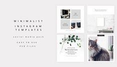 Minimalist Instagram Template Clean Instagram Pack