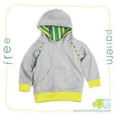 Free kids hoodie sewing pattern!