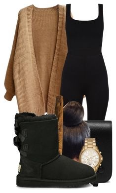"""""""okaaaaaaaay"""" by gvlden-bvbx ❤ liked on Polyvore featuring Mulberry, Michael Kors and UGG Australia"""
