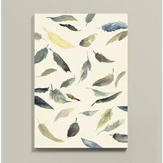 "Ballard Designs Suzanne Kasler Waltz of Feathers Stretched Canvas  52"" ($549) ❤ liked on Polyvore featuring home, home decor, wall art, motivational wall art, inspirational home decor, ballard designs, inspirational wall art and textured wall art"