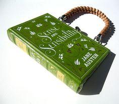 Book Purse Handbag - one tuto here :  http://www.youtube.com/watch?v=m4RFH0q0Osk