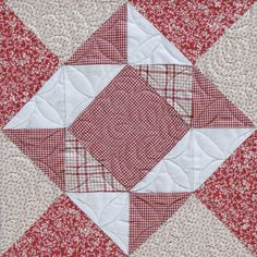 "Kansas City Star:  2013 KC Star Quilt: Rubies, Diamonds, Garnets Too...Block 1: ""Facet."""