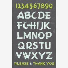 love these prints - alphabet typeface