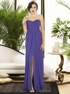From the sweetheart neckline to the floor, the Dessy 2879 Bridesmaid dress flows with the glory of chiffon and the draping is soft and alluring. #timelesstreasure