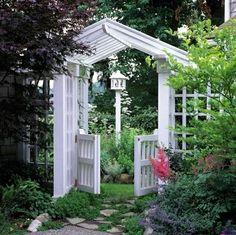 Gartentor Kletterpflanzen-originelle Garten Gestaltungsideen