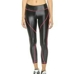 "KORAL ACTIVEWEAR - Liquid Legging NWOT Ultimate workout legging. Koral Activewear ""Transport"" legging, same sheen as the ""Lustrous Legging"" Great fit, just a little too flashy for me ?? They shine just like the first 2 photos. Size L, comparable to a size 4 or 6. Urban Outfitters Pants Leggings"