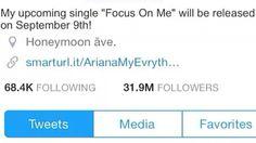 Update on Ari new single and follow me on Twitter Love Ariana Grande