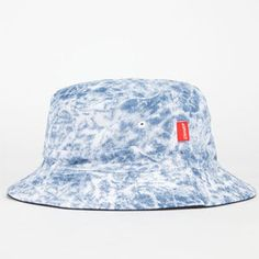 ASPHALT YACHT CLUB Acid Washed Denim Mens Bucket Hat