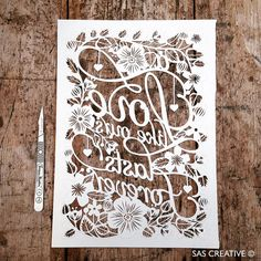 50% Off SALE Papercut Template 'A LOVE Like Ours by SASCreative