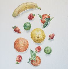 A personal favorite from my Etsy shop https://www.etsy.com/listing/221306864/watercolor-painting-of-fruitskitchen