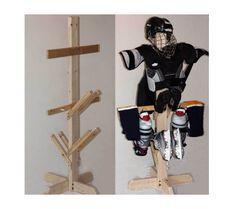 T-Stand for hockey gear Softball Gear, Hockey Gear, Hockey Gifts, Hockey Stuff, Field Hockey, Ice Hockey, Hockey Room, Boy Wall Art, Valentines For Boys