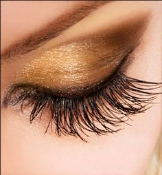 Soft Golden smokey eye, perfect for wedding day make-up
