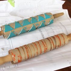 Printmaking with a Rolling Pin