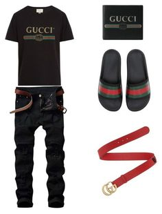 """""""Name brand Fit"""" by godxz803 on Polyvore featuring Gucci, men's fashion and menswear"""