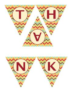 THANKSGIVING banner. LOVE this free printable :) @ balancing home