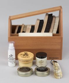 Shoe Cleaning Set - CHF 239 Clean Shoes, Bath Caddy, Flatware, Tray, Cleaning, Chf, Gifts, Designers, Packaging