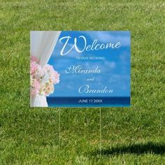 Look no further! Get your Ocean Beach Summer Wedding Welcome Sign from us. Personalization is very easy and the quality is great. Do you want a unique design or a change? Do not hesitate to contact me.