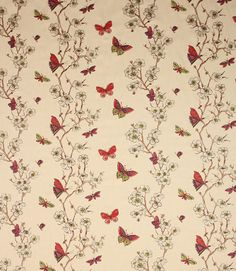 Akemi is a beautiful fabric from Lorient Decoration. It has a design of exquisitely embroidered butterflies, graceful floral trails and is made from 100% cotton. This is a very stylish curtain material. This is a fantastic clearance fabric at an amazing price and will not be around for long! Coordinates with Noa, Rihana and Alcazar fabrics.