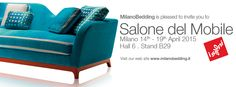 We are waiting for you at ISALONI.  http://www.milanobedding.it/