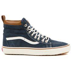 Vans SK8-Hi Slim Black/True White) Skate Shoes ($53) ❤ liked on ...