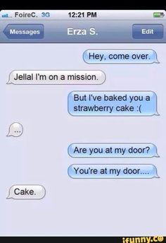 Jellal, Erza, funny, text, strawberry cake; Fairy Tail