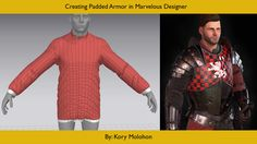 Padded Armor Tutorial in Marvelous Designer