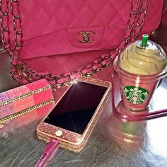 """""""Charge your phone with this adorable pink Starbucks Portable Charger! ($55) Online at www.shopthreadlines.com  Follow @SHOPTHREADLINES for more products."""" Photo taken by @letsthinkpink on Instagram, pinned via the InstaPin iOS App! http://www.instapinapp.com (07/08/2015)"""