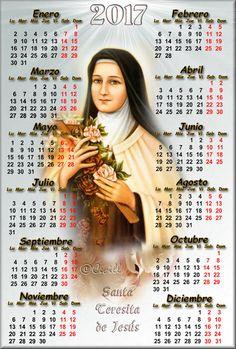 Imágenes de Cecill: Calendario de Santa Teresita del Niño Jesús, 2017