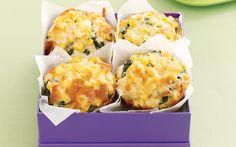 Corn, spinach and bacon muffins recipe - By recipes+, These hearty savoury muffins are great for lunchboxes, morning tea and even breakfast on the run. Bacon Muffins, Spinach Muffins, Savory Muffins, Cheese Muffins, Tea Recipes, Muffin Recipes, Baby Food Recipes, Cooking Recipes, Recipies