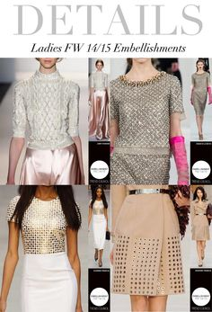 Trend Council:  Ladies FW '14'15 Embellishments