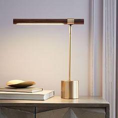 Linear Wood LED Table Lamp westelm