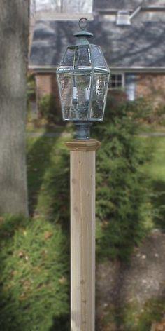 Finial Style Cedar Lantern Post - Natural