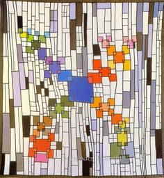 Pieced & Applique Abstract Quilt Public Square 1980 Ohio by SurrendrDorothy, via Flickr