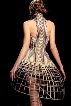 corset spine and cage skirt #edgy #fashion #rebellious #punk #rocker #chic #style #design #edgy #fashion #rebellious #punk #rocker #chic #style #design