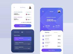 Finance & Banking App - UI/UX - mobile Finance & Banking App Finance & Banking App by Ali Sayed Mobile App Design, Mobile Application Design, Mobile App Ui, Web Design, App Ui Design, Flat Design, Interface Design, Site Design, User Interface
