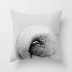 Dog Tail Pug Pillow 16 x 16 Pillow Cover by ShermanPhotography, $38.00
