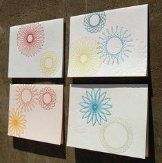Blackbird Letterpress Spirograph Cards