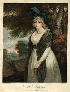 1795 Lady Rancliffe nee Elizabeth Anne James, married to Thomas Boothby Parkyns, 1st Baron Rancliffe by John Hoppner (British Museum - Londo...