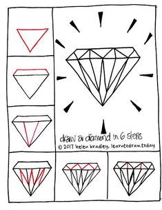 How to Draw a Diamond in Six Steps : Learn To Draw