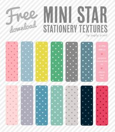 Mini Star Stationery Textures - free download