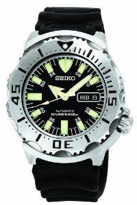"Seiko Men's SKX779 ""Black Monster"" Automatic Dive Polyurethane Strap Watch $185.00"