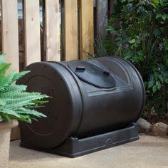 Plastic composting tumbler for all of your springtime needs. #plasticsinthegarden