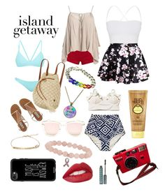 """""""Island Getaway"""" by cqb824 ❤ liked on Polyvore featuring Bower, Pierre Balmain, Sans Souci, Billabong, Quay, WithChic, Theory, Loli Bijoux, Sun Bum and Casetify"""