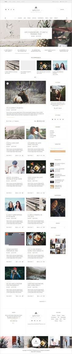 Writsy is a clean & faded #vintage #WordPress #theme for #Blog & Shop website with 24 homepage variation download now➩ https://themeforest.net/item/writsy-a-clean-faded-vintage-wordpress-blog-shop-theme/18135297?ref=Datasata