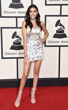 Taylor Swift and sexy Selena Gomez lead arrivals at Grammy Awards Silver Satin Dress, Satin Dresses, Nice Dresses, Sam Smith, John Legend, Justin Bieber, Taylor Swift, Grammy Awards 2016, Red Carpet 2016