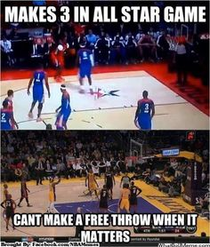 Dwight Howard can 3-point but can't free throw