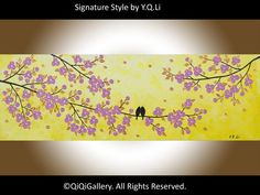Original  Abstract landscape Painting Palette Knife by QiQiGallery