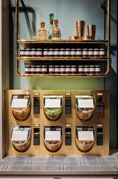 Gewurzhaus Merchants Stores by Doherty Design Studio. #tiledbench