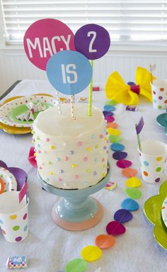 Polka dot birthday party - lots of wonderful ideas here!