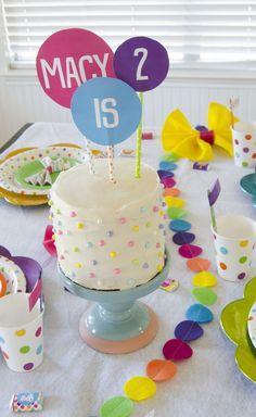 Polka dot birthday party - lots of wonderful ideas here!